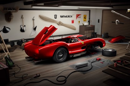 Ferrari, Ferrari 250 Testa Rossa, Garage, Guitars, SpaceX, HD, 2K