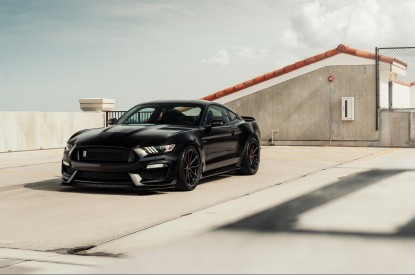 Ford, Ford Mustang, Black, Rooftop, HD, 2K, 4K, 5K