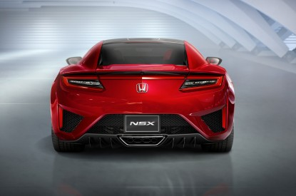 Honda, Honda NSX, Rear view, 2017, HD, 2K, 4K, 5K
