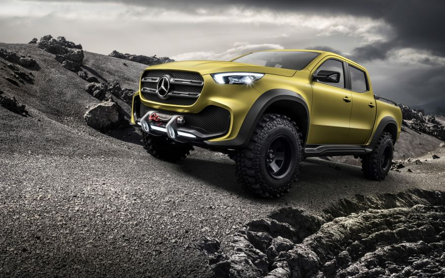 Mercedes, Mercedes Benz X Class, Premium Pickup, HD, 2K