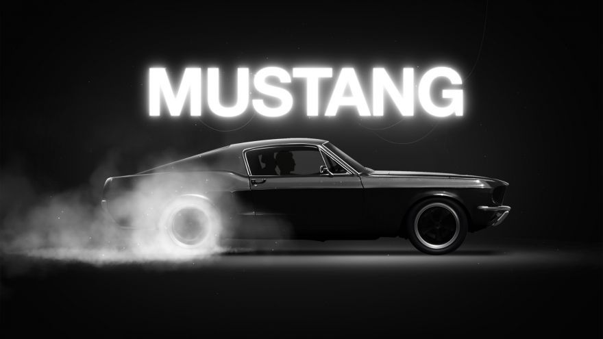 Mustang, Muscle, Mustang, Muscle car, Black, HD